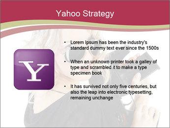 Blond Woman Holding Black Gun PowerPoint Template - Slide 11