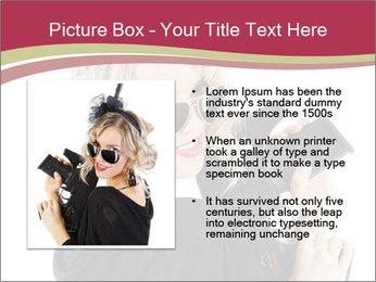 Blond Woman Holding Black Gun PowerPoint Template - Slide 13