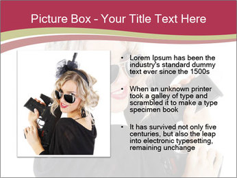 Blond Woman Holding Black Gun PowerPoint Templates - Slide 13