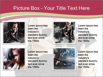 Blond Woman Holding Black Gun PowerPoint Template - Slide 14