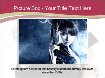 Blond Woman Holding Black Gun PowerPoint Templates - Slide 15
