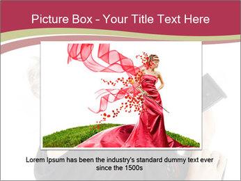 Blond Woman Holding Black Gun PowerPoint Templates - Slide 16
