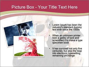 Blond Woman Holding Black Gun PowerPoint Template - Slide 20
