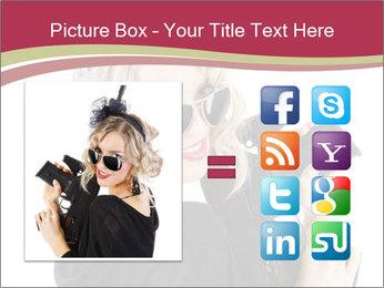 Blond Woman Holding Black Gun PowerPoint Template - Slide 21