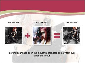Blond Woman Holding Black Gun PowerPoint Template - Slide 22