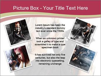 Blond Woman Holding Black Gun PowerPoint Template - Slide 24