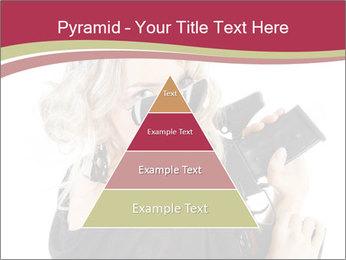 Blond Woman Holding Black Gun PowerPoint Template - Slide 30