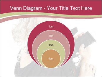 Blond Woman Holding Black Gun PowerPoint Template - Slide 34