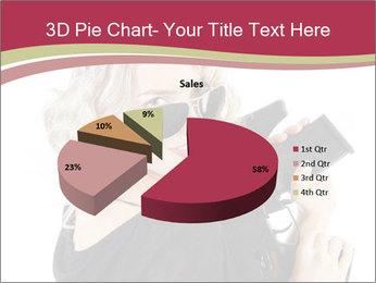 Blond Woman Holding Black Gun PowerPoint Templates - Slide 35