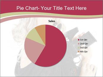 Blond Woman Holding Black Gun PowerPoint Template - Slide 36
