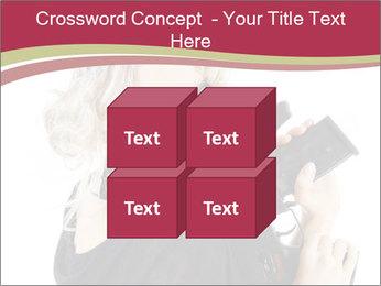 Blond Woman Holding Black Gun PowerPoint Template - Slide 39