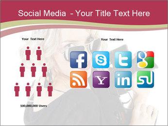 Blond Woman Holding Black Gun PowerPoint Templates - Slide 5