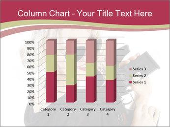Blond Woman Holding Black Gun PowerPoint Template - Slide 50
