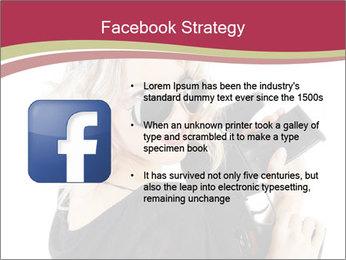Blond Woman Holding Black Gun PowerPoint Template - Slide 6