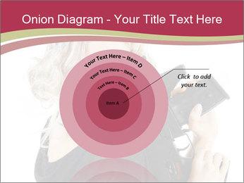 Blond Woman Holding Black Gun PowerPoint Templates - Slide 61