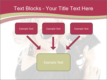 Blond Woman Holding Black Gun PowerPoint Template - Slide 70