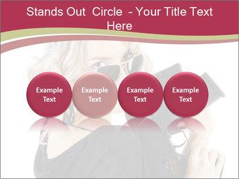Blond Woman Holding Black Gun PowerPoint Template - Slide 76