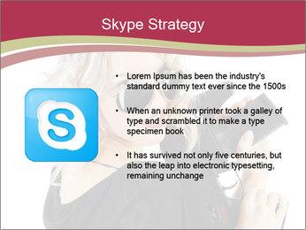 Blond Woman Holding Black Gun PowerPoint Templates - Slide 8
