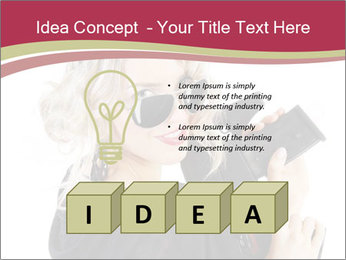Blond Woman Holding Black Gun PowerPoint Templates - Slide 80