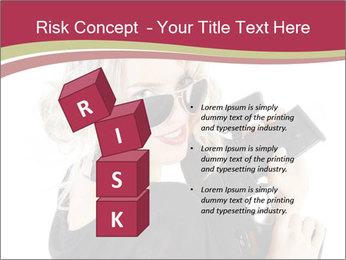 Blond Woman Holding Black Gun PowerPoint Templates - Slide 81