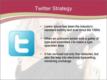 Blond Woman Holding Black Gun PowerPoint Templates - Slide 9