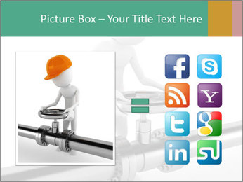 3d Worker Fixing Pipes PowerPoint Template - Slide 21