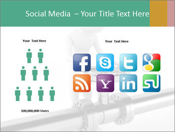 3d Worker Fixing Pipes PowerPoint Template - Slide 5