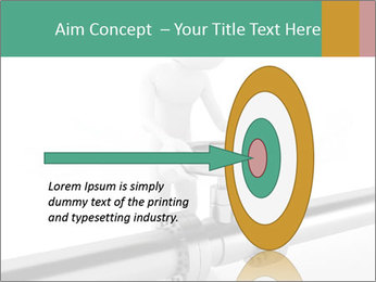 3d Worker Fixing Pipes PowerPoint Template - Slide 83