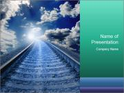Blue Railway PowerPoint Templates