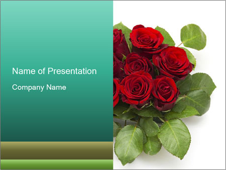 Elegant Red Rose Bouquet PowerPoint Template