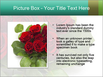 Elegant Red Rose Bouquet PowerPoint Template - Slide 13