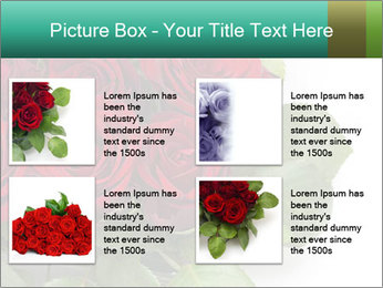 Elegant Red Rose Bouquet PowerPoint Template - Slide 14