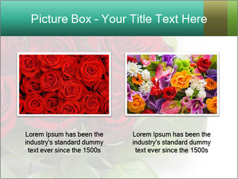 Elegant Red Rose Bouquet PowerPoint Template - Slide 18