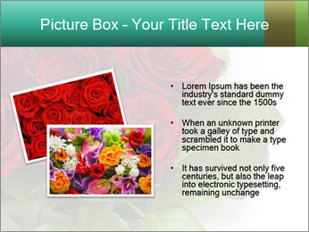 Elegant Red Rose Bouquet PowerPoint Template - Slide 20