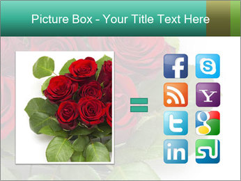 Elegant Red Rose Bouquet PowerPoint Template - Slide 21