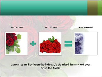 Elegant Red Rose Bouquet PowerPoint Template - Slide 22