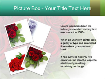 Elegant Red Rose Bouquet PowerPoint Template - Slide 23