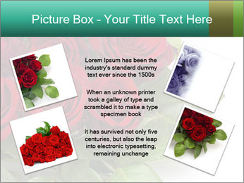Elegant Red Rose Bouquet PowerPoint Template - Slide 24
