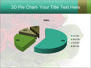 Elegant Red Rose Bouquet PowerPoint Template - Slide 35