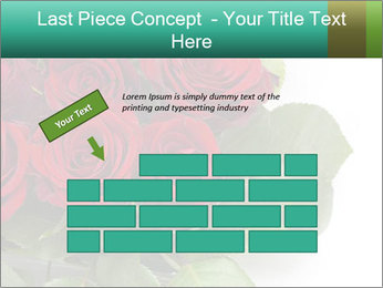 Elegant Red Rose Bouquet PowerPoint Template - Slide 46