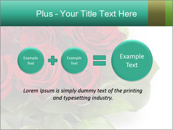 Elegant Red Rose Bouquet PowerPoint Template - Slide 75