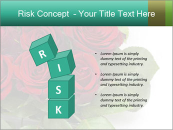 Elegant Red Rose Bouquet PowerPoint Template - Slide 81