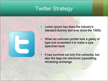 Elegant Red Rose Bouquet PowerPoint Template - Slide 9