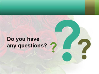 Elegant Red Rose Bouquet PowerPoint Template - Slide 96