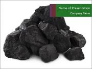 Pile of Black Coals PowerPoint Templates