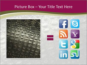 Grey Crocodile Leather PowerPoint Templates - Slide 21