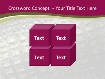 Grey Crocodile Leather PowerPoint Templates - Slide 39