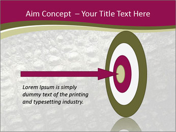 Grey Crocodile Leather PowerPoint Template - Slide 83