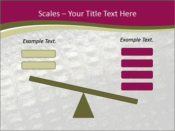 Grey Crocodile Leather PowerPoint Template - Slide 89