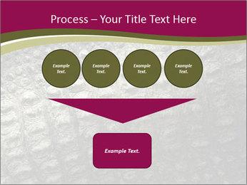 Grey Crocodile Leather PowerPoint Template - Slide 93